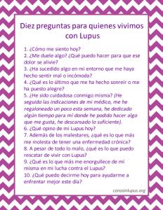 Diez preguntas para quienes vivimos con Lupus